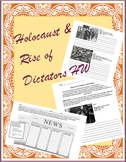 Rise of Dictators & World War 2 Holocaust Homework (Set of 2)