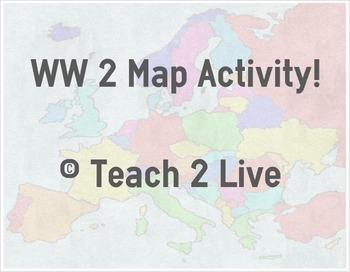 World War 2 Map Worksheets & Teaching Resources | TpT