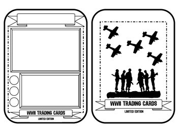 WW2 TradingCard Assignment (+ Rubric)