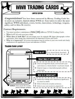 WW2 TradingCard Assignment (+ Rubric)