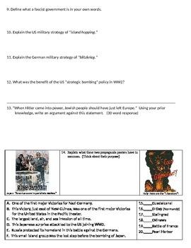 WW2 -Unit Writing Test