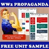 World War 2 activities - Propaganda Posters Freebie