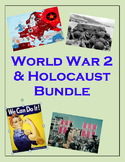 WW2 and Holocaust Complete Unit (PPT, Notes, Hmk, Tests, C