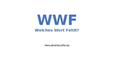 WWF – Welches Wort Fehlt? Low level German activity