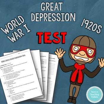 WWI ~ 1920s ~ Great Depression Test