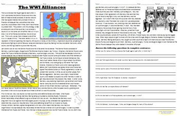 WWI Alliances 2 Day Lesson