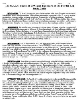 WWI Alliances Mini Lesson Pack (6 lessons)