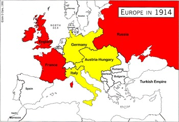 WWI Causes, Alliances and Early Battles | TpT