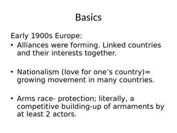 WWI: Causes and Alliances & Effects- complete overview lecture/ PPT