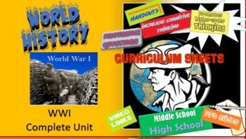 Honors World History WWI - Bundle Unit