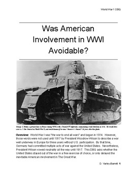 WWI DBQ - Was American Involvement in World War I Avoidable?