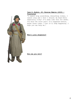 WWI Disease and Diagnosis