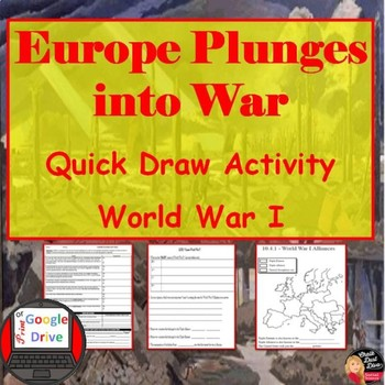 World War I - Europe Plunges into War – Quick-Draw Activity