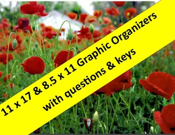 WWI Graphic Organizers:   11 x 17 & 8.5 x 11 with questions & keys