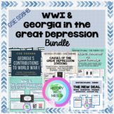 WWI & Great Depression in Georgia - GSE SS8H7 BUNDLE - Ele
