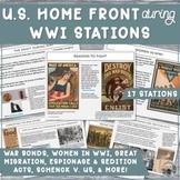 WWI Homefront STATIONS: Bonds,Draft,Schenck,Great Migratio