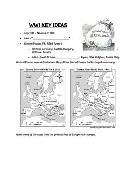 WWI Key Ideas Notes
