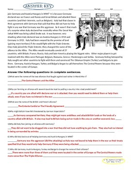 WWI Lesson Pack (11 Lessons about WW1)