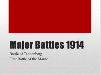 WWI Major Battles - 1914