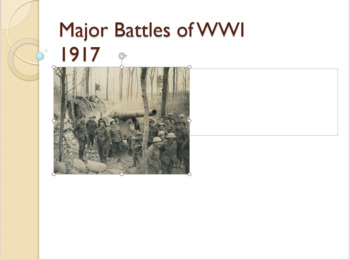 WWI Major Battles - 1917