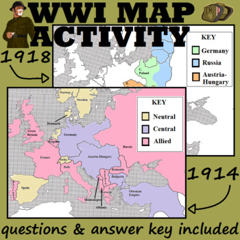 Wwi map activity by smart apple teachers pay teachers wwi map activity publicscrutiny Choice Image