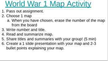 WWI Map Activity