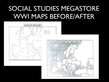 WWI Maps Before and After World War I