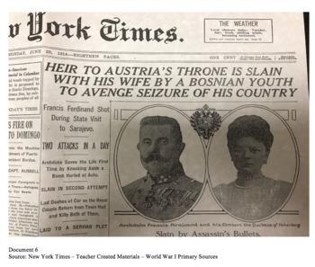 WWI Murder Mystery - Archduke Ferdinand
