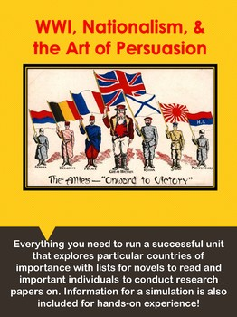 WWI, Nationalism, and the Art of Persuasion w/ a Simulation!