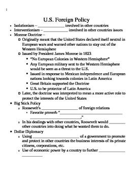 WWI Notes - Skeleton Outline