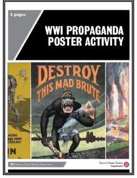 WWI Propaganda Poster Activity