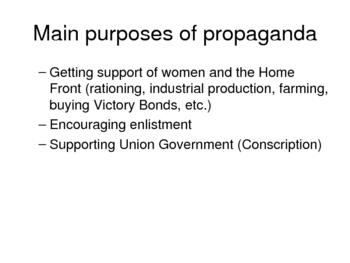 WWI Propaganda lesson and assignment