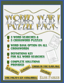 WWI Puzzle Pack: World War I Word Search and Crossword Puzzles