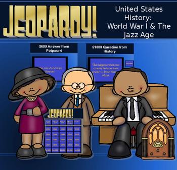 WWI & Roaring 20s Jeopardy Game