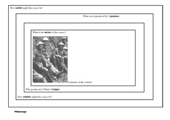 World War I Source Analysis worksheet
