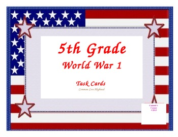 WWI Task Cards 5th Grade
