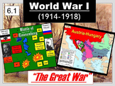 WWI (The Great War) Begins Powerpoint & Notes (6.1)