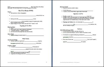 WWI The US at Home Lesson Plan & PowerPoint BUNDLE