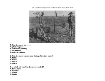 WWI- The United States Joins WW1-Read and Write The Room Scavenger Hunt