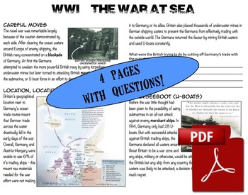 CHC2P CHC2D WWI: The War At Sea