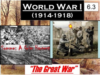 WWI The World At War Powerpoint & Notes (6.3)