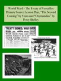 WWI - Treaty of Versailles Primary Source Worksheet & Poet