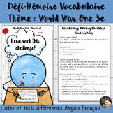 EFL Memory-Challenge - WWI