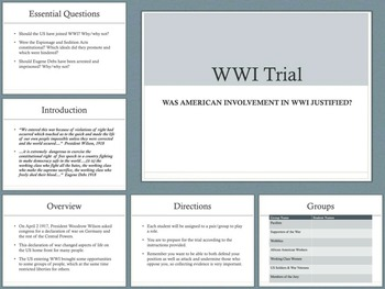 WWI Trial Group Activity