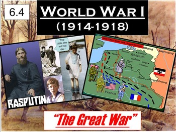WWI US Entry & End of the War Powerpoint & Notes (6.4)