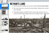 WWI Unit; presentation, readings, maps, activities, 2 column notes.