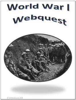 WWI (WW1) Social Studies Webquest Internet Activity