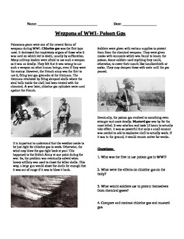 WWI Weapons: Poison Gas