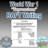 WWI (World War 1) Expressions Forum RAFT Writing Assignment