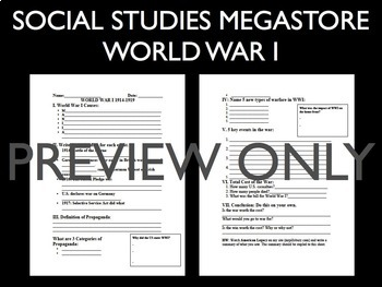 WW I Powerpoint